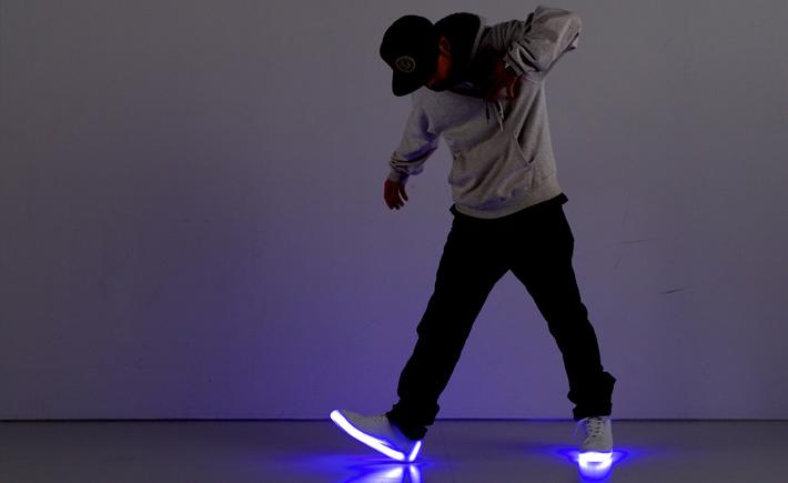 lichtgevende led schoenen