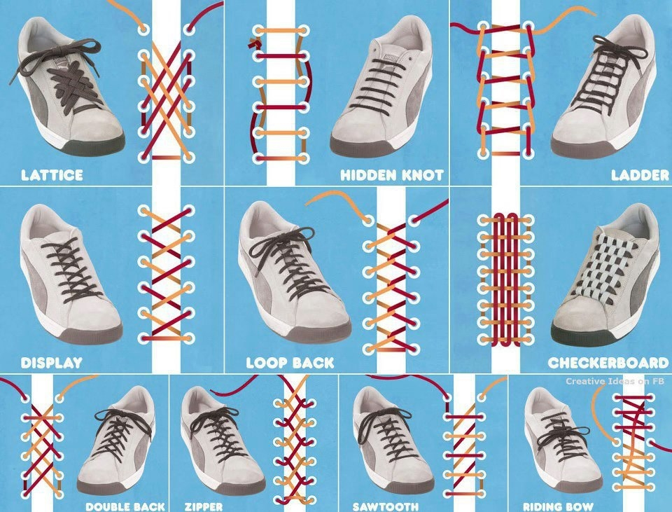 manieren om schoen veteren